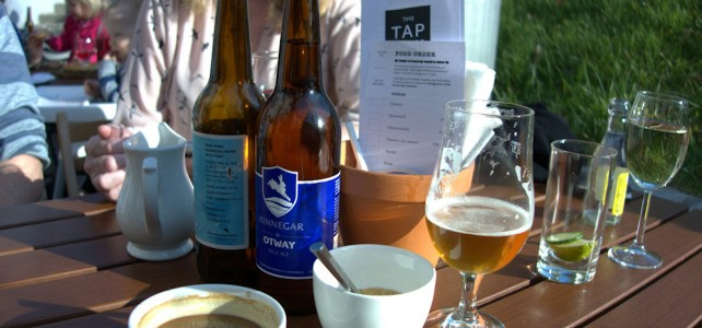 Pizza and Kinnegar beer at Rathmullan House